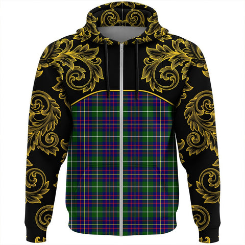 Image of Inglis Modern Tartan Clan Crest Zip Hoodie - Empire I - HJT4 - Scottish Clans Store - Tartan Clans Clothing - Scottish Tartan Shopping - Clans Crest - Shopping In scottishclans - Hoodie - Pullover For You