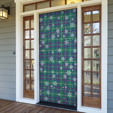 Inglis Ancient Christmas Tartan Door Sock Cover
