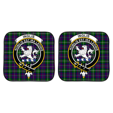 Image of Inglis Modern Clan Crest Tartan Scotland Car Sun Shade 2pcs K7
