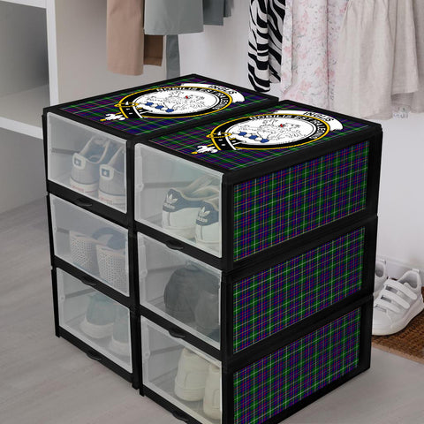 Image of Inglis Modern Clan Crest Tartan Scottish Shoe Organizers K9
