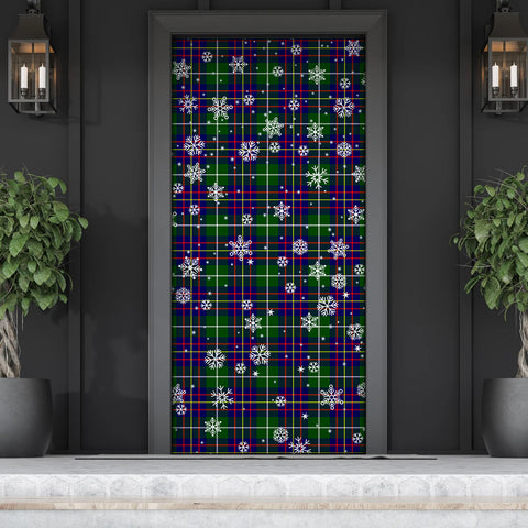 Image of Inglis Modern Christmas Tartan Door Sock Cover
