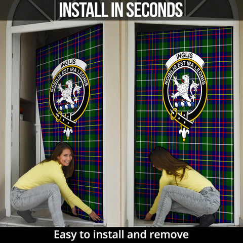 Inglis Modern Tartan Door Sock Cover