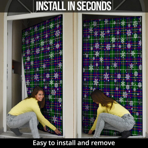 Inglis Modern Christmas Tartan Door Sock Cover