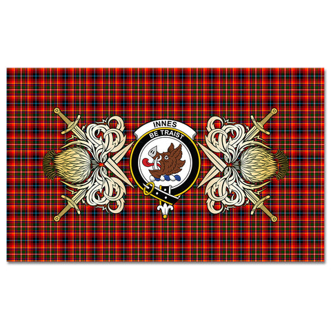 Tablecloth Innes Modern Clan Crest Courage Symbol Special Version