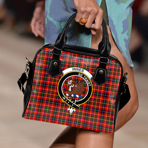 Innes Modern Tartan Clan Shoulder Handbag | Special Custom Design
