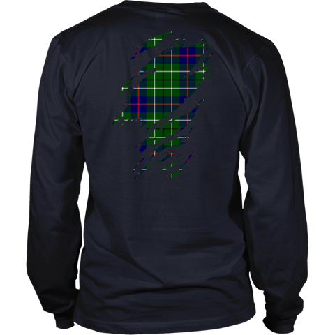 Image of Duncan Modern Lives in me Tartan T Shirt K7