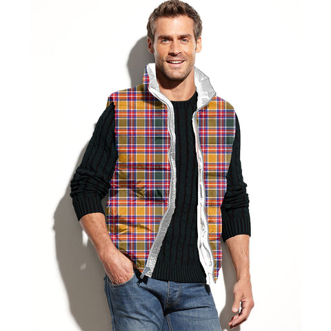 Jacobite Tartan Puffer Vest for Men and Women K7