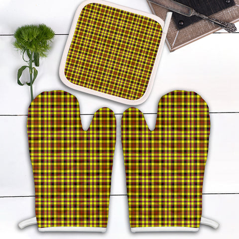 Image of Jardine Clan Tartan Scotland Oven Mitt And Pot-Holder (Set Of Two)