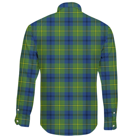 Johnston Ancient Tartan Clan Long Sleeve Button Shirt A91