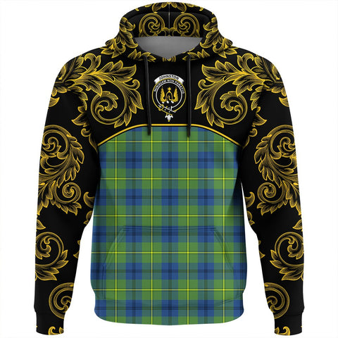 Johnston Ancient Tartan Clan Crest Hoodie - Empire I - HJT4 - Scottish Clans Store - Tartan Clans Clothing - Scottish Tartan Shopping - Clans Crest - Shopping In scottishclans - Hoodie - Pullover For You