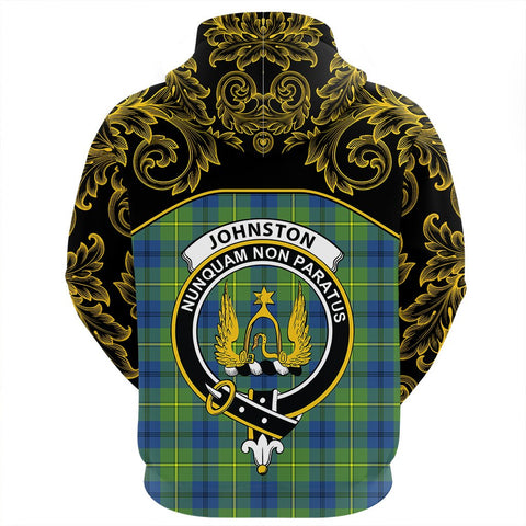 Johnston Ancient Tartan Clan Crest Hoodie - Empire I - HJT4