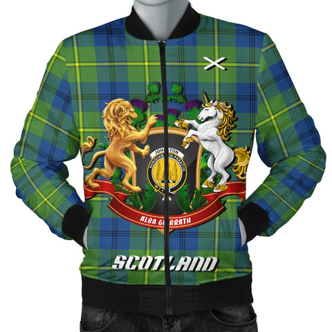 Johnston Ancient | Tartan Bomber Jacket | Scottish Jacket | Scotland Clothing