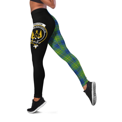 Johnston Ancient Crest Tartan Leggings | Over 500 Tartans | Special Custom Design