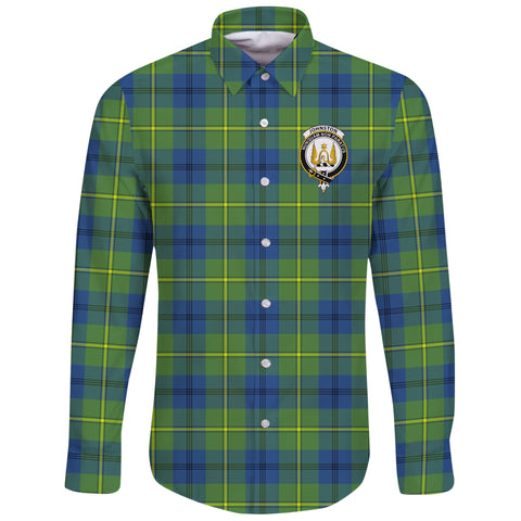 Johnston Ancient Tartan Clan Long Sleeve Button Shirt | Scottish Clan