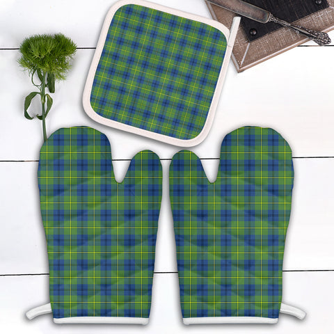 Johnston Ancient Clan Tartan Scotland Oven Mitt And Pot-Holder (Set Of Two)