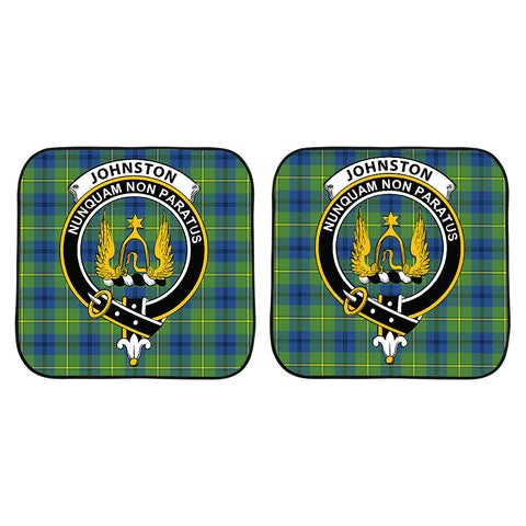Johnston Ancient Clan Crest Tartan Scotland Car Sun Shade 2pcs K7