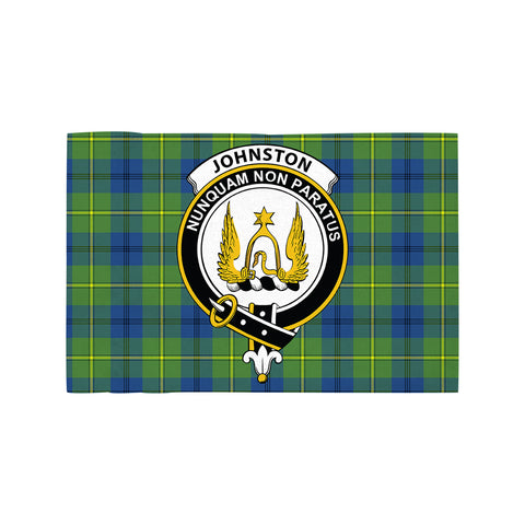 Johnston Ancient Clan Crest Tartan Motorcycle Flag