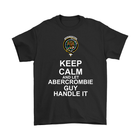 Abercrombie Tartan Keep Calm Guy T-Shirt | scottishclans.co