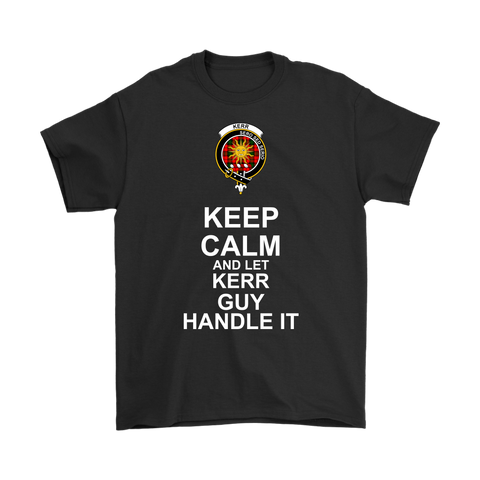Kerr Tartan Keep Calm Guy T-Shirt | scottishclans.co