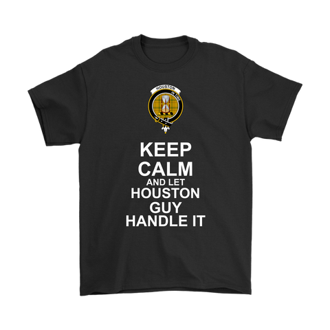 Houston Tartan Keep Calm Guy T-Shirt | scottishclans.co