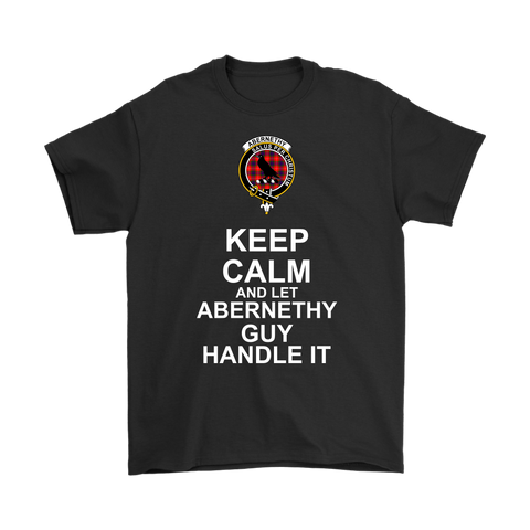 Abernethy Tartan Keep Calm Guy T-Shirt | scottishclans.co