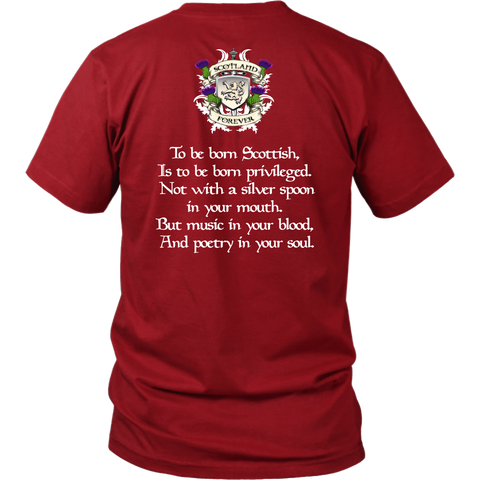 Abercrombie (Or Abercromby) Tartan T-Shirt - Scottish Proverb K7