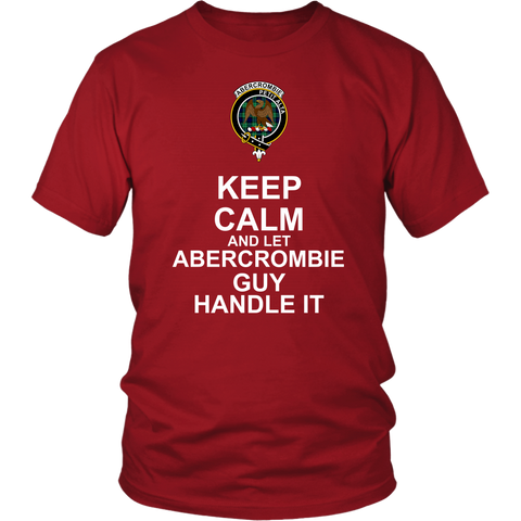 Abercrombie Tartan Keep Calm Guy T-Shirt K7