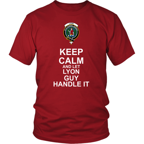 Lyon Tartan Keep Calm Guy T-Shirt K7