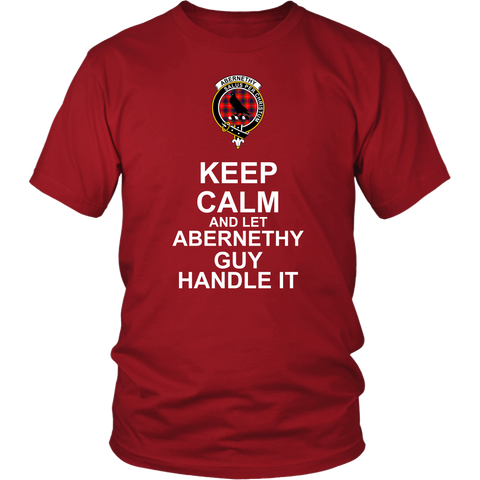 Abernethy Tartan Keep Calm Guy T-Shirt K7