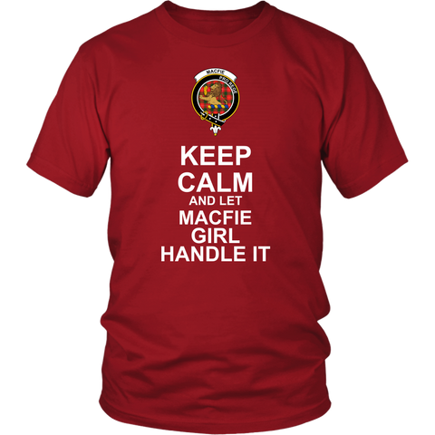 Macfie Tartan Keep Calm Girl T-Shirt K7