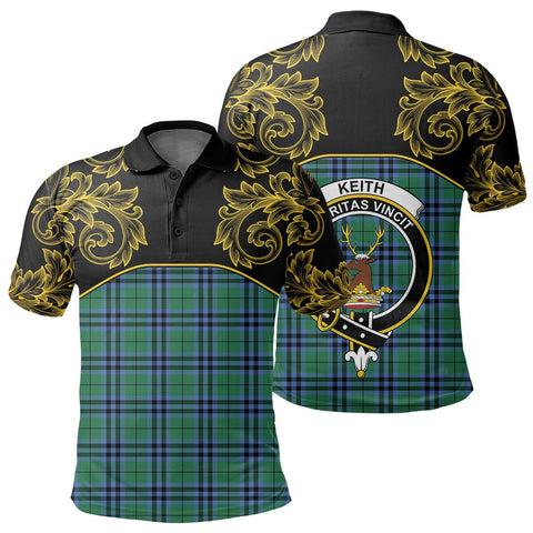 Image of Keith Ancient Tartan Clan Crest Polo Shirt - Empire I - HJT4