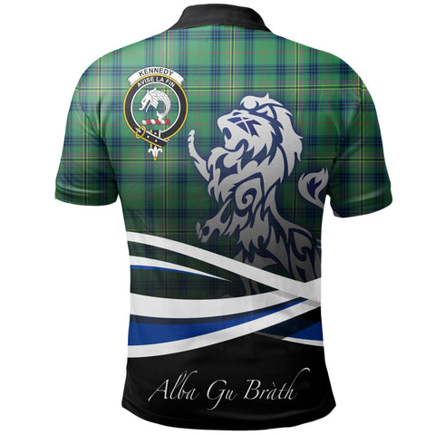Kennedy Ancient Polo Shirts Tartan Crest Scotland Lion A30
