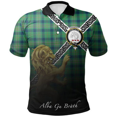 Kennedy Ancient Polo Shirts Tartan Crest Celtic Scotland Lion A30