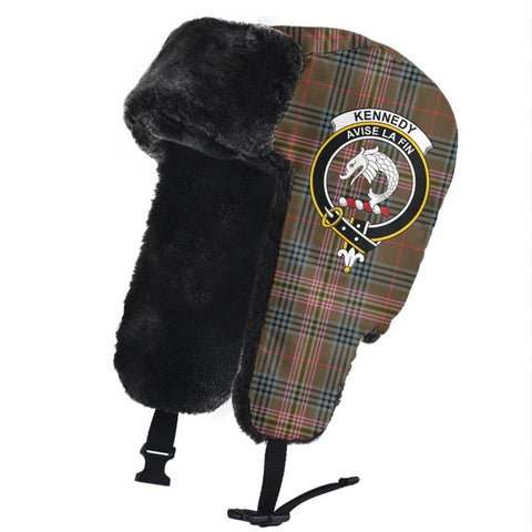Image of Kennedy Weathered Clan Crest Tartan Trapper Hat