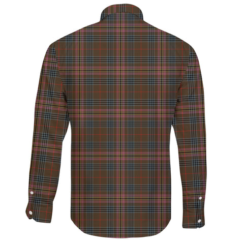 Image of Kennedy Weathered Tartan Clan Long Sleeve Button Shirt A91