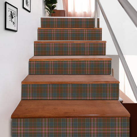 Image of Scottishshop Tartan Stair Stickers - Kennedy Weathered Stair Stickers A91