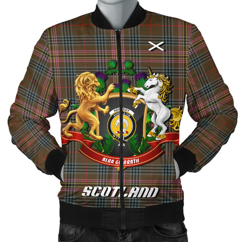 Kennedy Weathered | Tartan Bomber Jacket | Scottish Jacket | Scotland Clothing