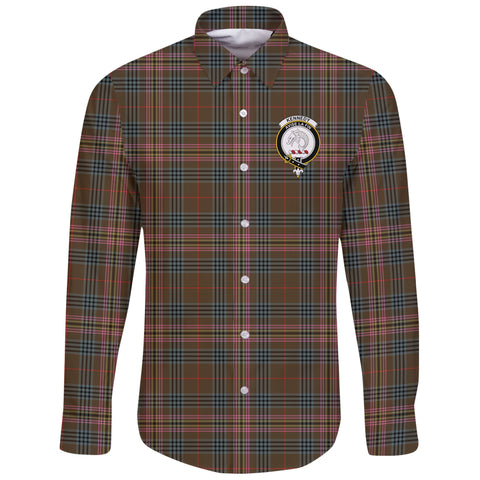 Kennedy Weathered Tartan Clan Long Sleeve Button Shirt | Scottish Clan