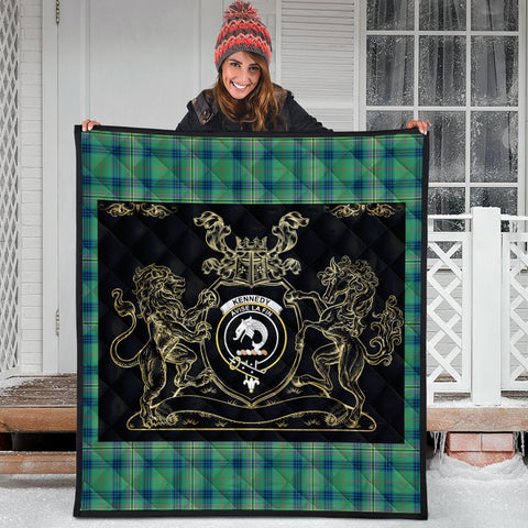 Kennedy Ancient Clan Royal Lion and Horse Premium Quilt