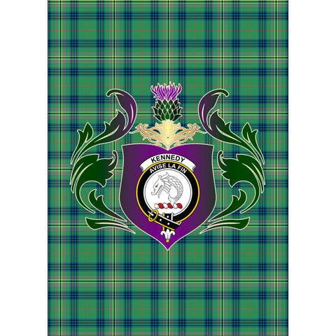 Kennedy Ancient Clan Garden Flag Royal Thistle Of Clan Badge