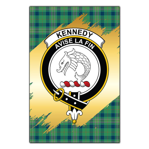 Garden Flag Kennedy Ancient Clan Gold Crest Gold Thistle