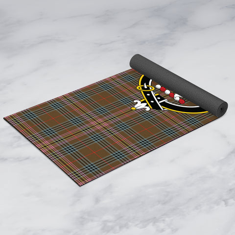Image of Kennedy Weathered Clan Crest Tartan Yoga mats