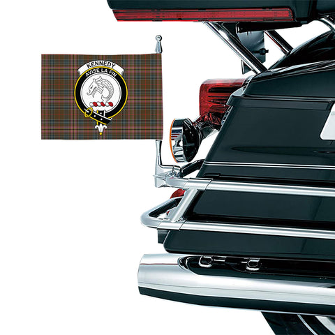 Image of Kennedy Weathered Clan Crest Tartan Motorcycle Flag