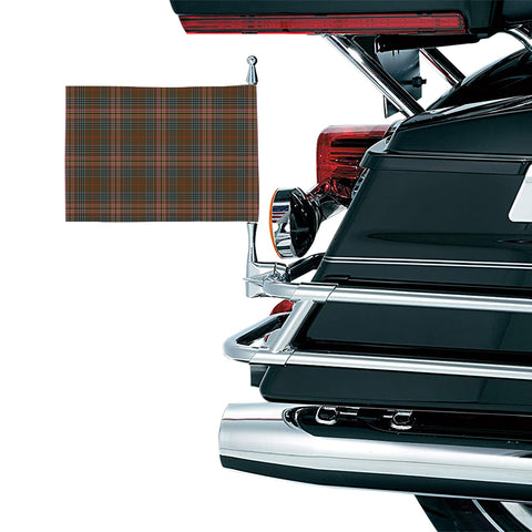Image of Kennedy Weathered Clan Tartan Motorcycle Flag