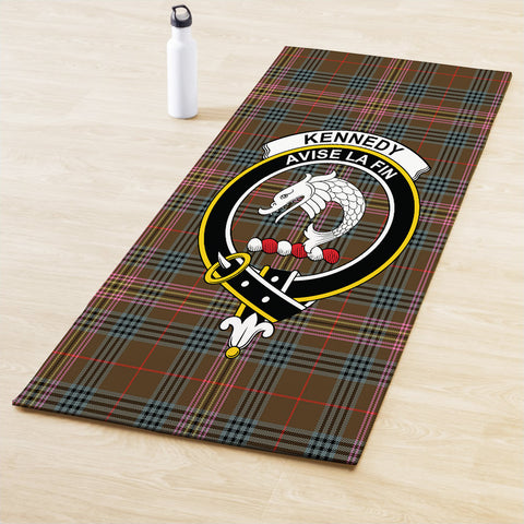 Kennedy Weathered Clan Crest Tartan Yoga mats