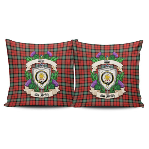 Kerr Ancient Crest Tartan Pillow Cover Thistle (Set of two) A91 | Home Set