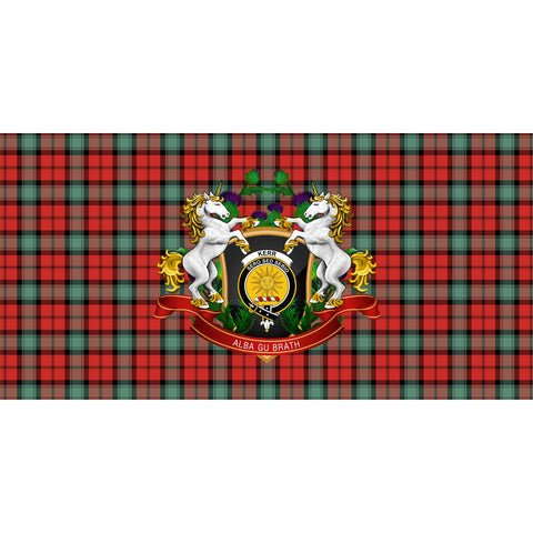 Image of Kerr Ancient Crest Tartan Tablecloth Unicorn Thistle A30