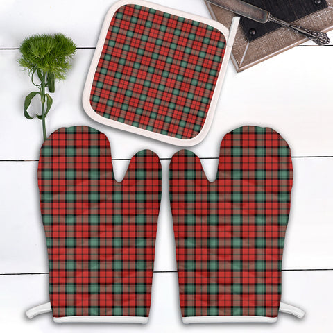Image of Kerr Ancient Clan Tartan Scotland Oven Mitt And Pot-Holder (Set Of Two)