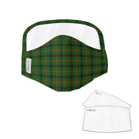 Image of Kincaid Modern Tartan Face Mask With Eyes Shield - Green  Plaid Mask TH8