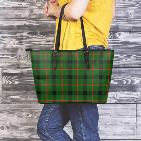 Image of Kincaid Modern Tartan Leather Tote Bag (Large) | Over 500 Tartans | Special Custom Design